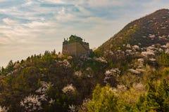 Форт вдоль Великой Китайской Стены Стоковое Изображение
