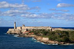 Форт Гавана Куба Morro Стоковая Фотография
