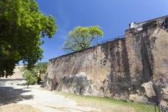 Форт Иисус в Момбасе, Кении стоковая фотография rf