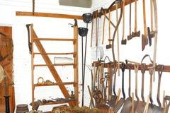 Форт имел все необходимые инструменты 1800's для того чтобы получить работу сделанный стоковая фотография rf