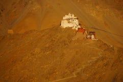 Форт и Namgyal или красное gompa главным образом буддийский центр в Leh, внутри стоковое фото rf