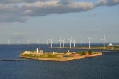 Форт Копенгаген Том Wurl Trekoner ветротурбин Стоковые Изображения