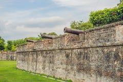 Форт Корнваллис в Джорджтауне, Penang, форт звезды построенный Великобританск Востоком Индией Компанией в конце восемнадцатого ве стоковые фото