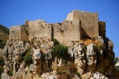 Форт крестоносца Mseilha, Batroun, Ливан. стоковое изображение