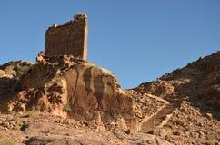 Форт крестоносца, Petra Стоковое Изображение
