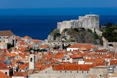 Форт Лоренс в Дубровнике, Хорватии стоковое изображение