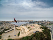 Форт на заливе Луанды, Луанды, Анголы Стоковые Фотографии RF