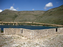Форт паши Али, деревня Палермо, албанец Ривьера Стоковое фото RF