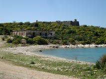 Форт паши Али на Палермо, южной Албании Стоковые Фото