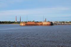 Форт Питер i, Kronstadt st petersburg России Стоковое Изображение RF