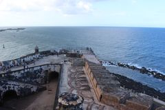 Форт расположенный в Сан-Хуане стоковая фотография rf