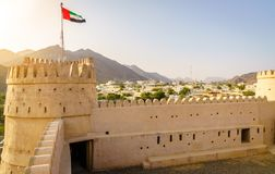 Форт al-Bithnah, ОАЭ стоковое фото rf