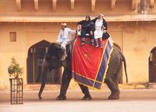 Форт Amer в Джайпуре, Rajastan, Индии 2012, 2-ое января Стоковые Изображения