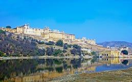 Форт Amer янтарный, Джайпур, Раджастхан, Индия Стоковые Фото