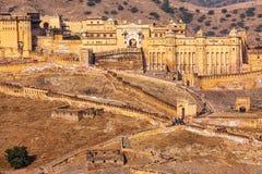 Форт Amer янтарный, Раджастхан, Индия стоковые изображения rf