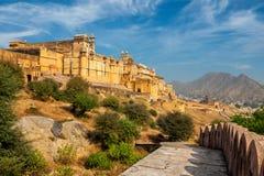 Форт Amer aka янтарный, Раджастхан, Индия стоковые фотографии rf