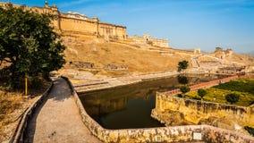 Форт Amer aka янтарный, Раджастхан, Индия стоковые изображения rf