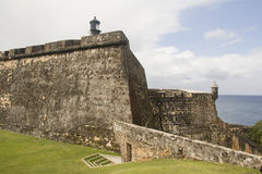 Форт El Morro - Пуэрто-Рико Стоковые Изображения RF