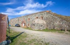 Форт Geremia воинская крепость западного Ligurian Apennines, Генуи внутренней и провинции, Италии стоковое изображение rf