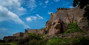 Форт Golconda, Хайдарабад - Индия Стоковое Фото
