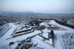 Форт Goryokaku, Хоккаидо Стоковое Изображение RF