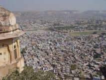 форт jaipur настилает крышу тигр Стоковая Фотография