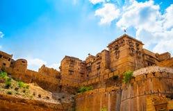 Форт Jaisalmer в Jaisalmer, Раджастхане, Индии Стоковые Изображения