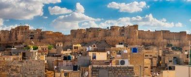 Форт Jaisalmer в Jaisalmer, Раджастхане Индия Стоковые Изображения RF
