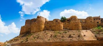 Форт Jaisalmer в Jaisalmer, Раджастхане, Индии Jaisalmer ve Стоковое Изображение