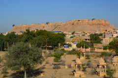 Форт Jaisalmer Раджастхан Индия Стоковое фото RF