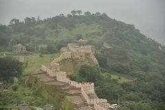 Форт Kumbalgarh, Раджастхан Стоковое Фото