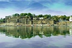 Форт Maheshwar - Madhya Pradesh Стоковая Фотография