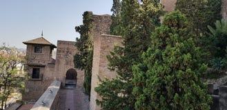Форт moorish Alcazaba в Испании стоковые фото