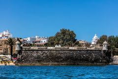 Форт Pau da Bandeira в Лагосе, Португалии Стоковая Фотография