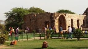 Форт Qutub Minar стоковое изображение rf