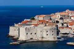 Форт St. John в Дубровнике, Хорватии, стоковые изображения