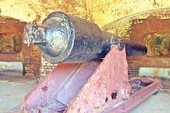 Форт Sumter: Карамболь Parrott стоковое изображение
