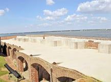 Форт Sumter: Третье воспроизводство уровня стоковая фотография rf