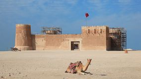 Форт Zubara Al в Катаре акции видеоматериалы