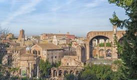 Форум 01 Рима римский Стоковое Изображение