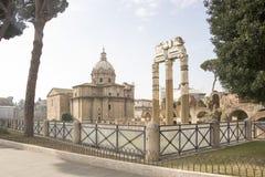 форум римский Здесь было светское развлечение города rome Стоковая Фотография