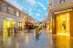 Форум ходит по магазинам тоннель на дворце Caesars в Лас-Вегас Стоковое Фото