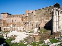 Форум Augustus в Рим стоковое изображение