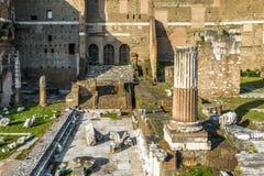 Форум Augustus летом, Рим, Италия стоковое фото