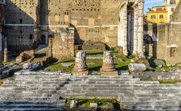 Форум Augustus с виском Марса Ultor, Рима, Италии стоковое изображение
