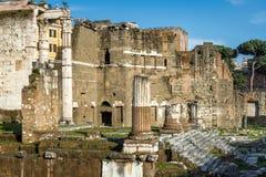 Форум Augustus с виском Марса Ultor, Рима, Италии стоковые фото