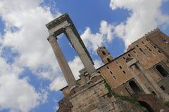Форум Romanum в Roma Италии Стоковые Изображения