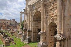 Форум Romanum в Roma Стоковое Изображение RF