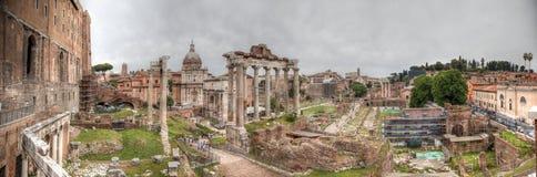 Форум Romanum панорамы HDR Стоковое Фото