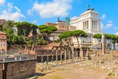 Форум Romanum (римский форум), Рим Стоковая Фотография